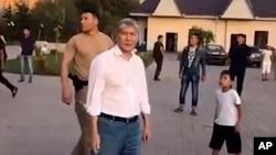 Qirg'iziston sobiq prezidenti Almazbek Atambayevni qo'lga olish amaliyoti boshlanishidan oldin, 2019-yil, 7-avgust