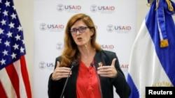 Samantha Power, administradora de USAID, de visita en El Salvador.