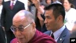 达赖喇嘛上星期访问美国加州(资料照)