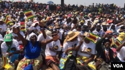 FILE: Some of the Zanu PF supporters who attended Friday rally addressed by Mr. Robert Mugabe and his wife, Grace.