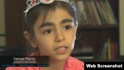 Một em bé tị nạn Syria ở Mỹ.