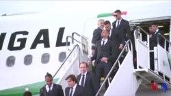 L'équipe du Portugal et Cristiano Ronaldo arrivés en Russie (vidéo)