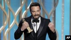 Ben Affleck fue el gran ganador de la noche durante la premiación del Globo de Oro, en el hotel Beverly Hills, en California.