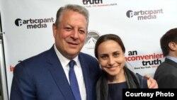 Марианна Яровская и Ал Гор.