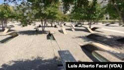 9/11 Pentagon Memorial in Arlington, Virginia.