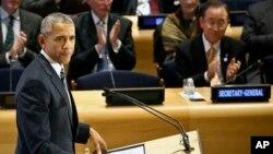 Predsednik Barak Obama na Samitu lidera o izbeglicama u UN-u, Njujork 20. septembar 2016.