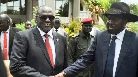 Vice President wa mbere Riek Machar, mu bubamfu hamwe na President Salva Kiir, mu buryo, bariko bararamukanya ku murwa mukuru Juba kw'igenekereoz rya 29 ry'ukwezi kwa kane.