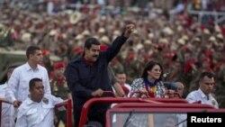 سیلیا فلورس، به همراه همسر نیکلاس مادورو، رئیس جمهوری ونزوئلا