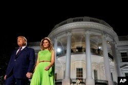 UMongameli Donald Trump loNkosikazi Melania Trump.