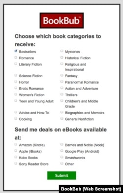BookBub Genres