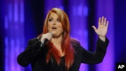 Wynonna Judd performs during the funeral for country music star George Jones in the Grand Ole Opry House on Thursday, May 2, 2013, in Nashville, Tenn.