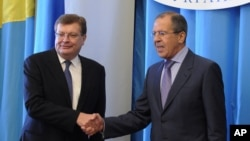 Константин Грищенко и Сергей Лавров