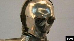 Salah satu koleksi robot yang dipamerkan di Museum Serajah Amerika Smithsonian di Washington, DC.