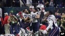 Les New England Patriots célèbrent leur victoire en finale de la NFL (janvier 2017)