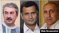Aktyorlar Ayşad Məmmədov, İlqar Cahangir və Abbas Qəhrəmanov