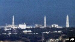 An aerial view shows Fukushima Daiichi nuclear power plant in Fukushima