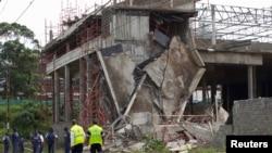 Les ruines du centre commercial à Tongaat en Afrique du Sud