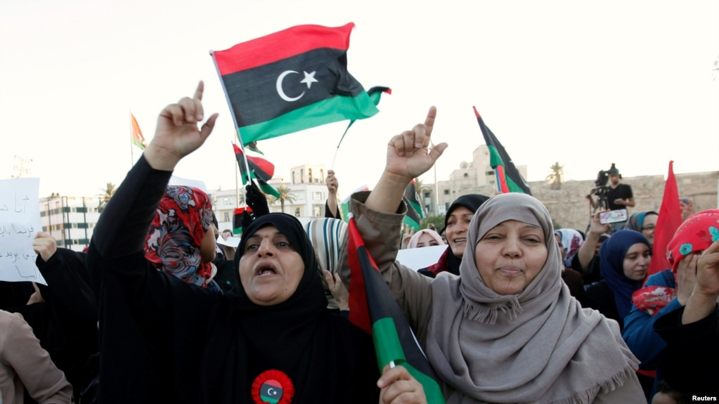 Protests over western troops threaten libyan unity government file demonstrators protest against what they say is french military intervention in libya at sciox Choice Image