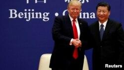 Tổng thống Trump và ông Tập tại Bắc Kinh năm 2017.