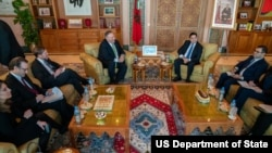 وزیر خارجه آمریکا و همتای مراکشی او در رباط
