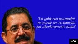 Manuel Zelaya dijo que perdirá a los mandatarios de la región que no reconozcan ningún gobierno impuesto por la fuerza.
