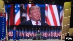 Donald Trump akitoa hotuba ya kukubali uteuzi wake