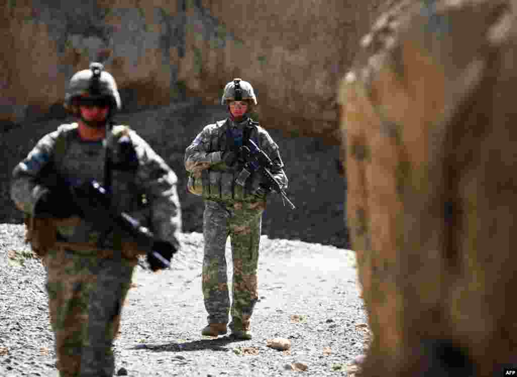 Американские солдаты в Афганистане. 17 февраля 2009 года