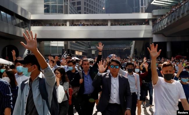 Los jóvenes han sido en gran medida los protagonistas de las protestas que remecen a Hong Kong.