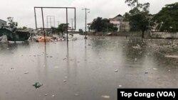 Kinshasa sous les eaux d'inondations, le 4 janvier 2017. (VOA/TopCongo)