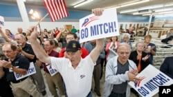 Kampanye untuk pemilu sela di Kentucky, AS (28/10). (AP/Scott Applewhite)