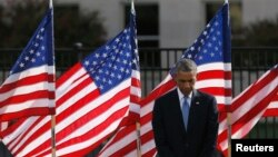 Barack Obama se recueille au Pentagone, 11 septembre 2014