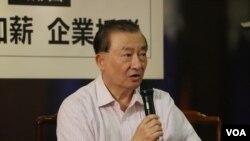 国家政策研究基金会执行长尹启铭(美国之音杨明拍摄)