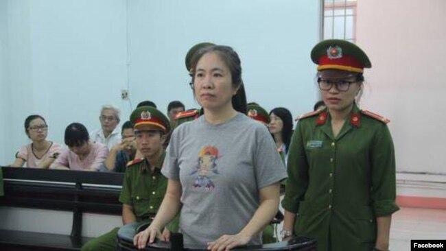 Như Quỳnh bị tòa tuyên án 10 năm tù giam trong phiên sơ thẩm ngày 29/6/2017.