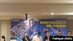 Diskusi tentang Rancangan Undang-undang Antiterorisme di Jakarta, Senin, 15 Mei 2018. (Foto: VOA/Fathiyah)