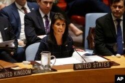 سفیر آمریکا در سازمان ملل گفت تحریم های تصویب شده بخش اعظم درآمد پیونگ یانگ را هدف می گیرد.