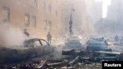 صحنه ای پس از حملات تروریستی ۱۱ سپتامبر ۲۰۰۱ در شهر نیویورک