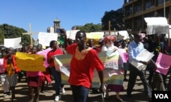 Prayer Network Zimbabwe march in Harare.