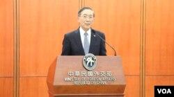 台湾外交部长林永乐 (美国之音李逸华拍摄)