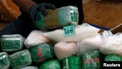 Các goi methamphetamin bị cảnh sát Thái thu giữ trong một vụ án chống ma túy
