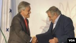 El viaje de Piñera y Mujica sirve para fortalecer los vínculos entre ambas naciones, coincidieron en señalar.