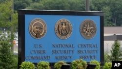 Un panneau devant l'Agence nationale de sécurité (NSA) qui s'occupe de la cybercriminalité aux Etats-Unis ( Photo AP)