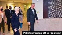 امریکہ کی نائب وزیرِ خارجہ وینڈی شرمن کی دفترِ خارجہ آمد