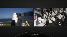 "Grab video veb snimka SpaceX-a na kom se vide spoljašnost i unutrašnjost svemirskog broda ""Zmaj"" pred lansiranje na NASA-inom Svemiskom centru Kennedy, 15. sepmtebra 2021."