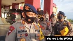 Kapolda Sulawesi Tengah Irjen Pol Abdul Rakhman Baso. Rabu (5/5/2021). (Foto: VOA/Yoanes Litha)