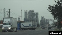 East Houston is an industrial area filled with various chemical and petrochemical plants and refineries. (E. Lee/VOA)