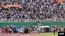 L'hommage à DJ Arafat dans le stade Felix Houphouet-Boigny à Abidjan, le 30 août 2019.