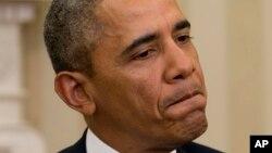 奥巴马总统3月3日在白宫就乌克兰局势回答问题