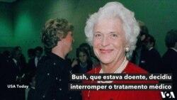 Morreu Barbara Bush, mãe e mulher de dois presidentes americanos