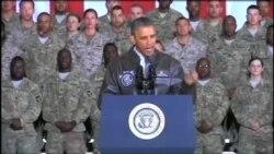 اوباما با سربازان آمريکا در افغانستان ديدار کرد