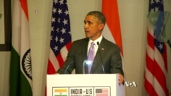 Obama Urges Closer Economic Ties During Historic India Visit